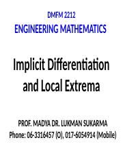 L5 Implicit Differentiation and Local Extrema.pptx