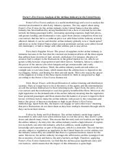 Porter's Five Forces Analysis of the Airlines Industry in the United States.docx