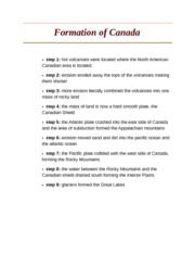 Formation of Canada