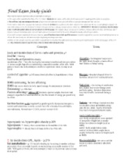 Final Exam Study Guide nutrition