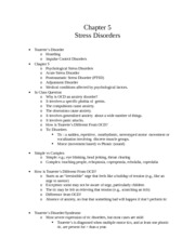 CH 5 Notes: Stress Disorders