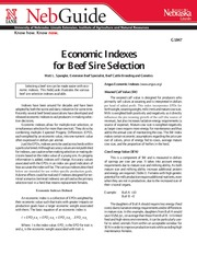 Economic Indexes for Beef Sire Selection-1