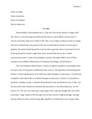 Writing Sample 4- Literature