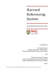how to cite harvard style