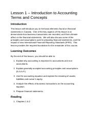 ACC2201 Lesson 1 Introduction to Accounting Terms and Concepts AODA.docx