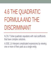 4_6_The_Quadratic_Formula_and_the_Discriminant