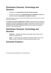 Distribution Channels in Marketing