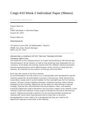 cmgt 410 project postmortem Project postmortem cmgt 410 (2 pages | 453 words) this memo details the benefits and drawbacks of a postmortem review of this training project.
