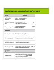 swott analysis template - generic swott template new technologies new needs of