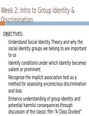 Week 2 Intro to group identity.ppt