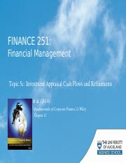 Module 5c - Investment Appraisal CF's