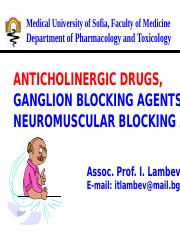 Anticholinergic drugs