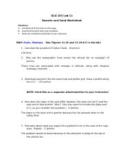 GLG103 Lab 11 - Deserts Worksheet