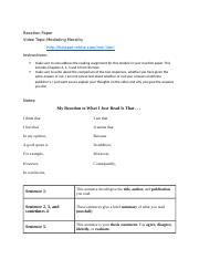 5Reaction Paper Instructions & Notes.docx