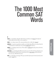 1000 Common SAT Words