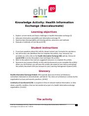 Gray.J. Health Information Exchange (Baccalaureate) HBK1012.1.docx