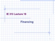 Lecture 20 (Financing)