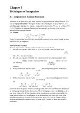 Chapter 3 (Techniques of Integration)