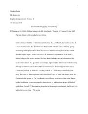 Sample Annotated Bibliography - Single Entry (1)