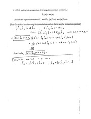 Exam 2 Solution Fall 2014 on Quantum Mechanics
