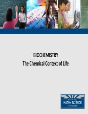 Chapter 2 - The Chemical Context of Life.pptx