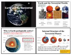 Lecture 7 - Earth and the Terrestrial Worlds