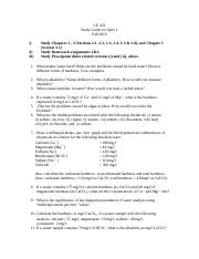 CE 453- Study Guide for Quiz 1- '16