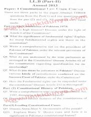 Past Papers 2013 LLB Part 2 Constitutional Law Paper 1