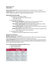 MKT test 3 Study Guide