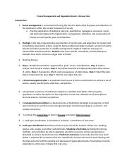 Forest Management and Regulation Exam 1 Answer Key