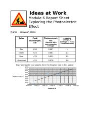 Report Sheet Module 6 - Photoelectric effect.docx