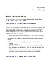A & P 2 Heart Dissection Lab.docx