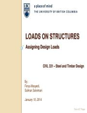 CIVL 331 - 02 Loads on Structures(1)
