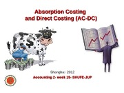 Absorption Costing and Direct Costing MA-2