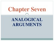 Chapter 7 Analogical Arguments