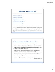 GEOG 280-NOTES-Mineral resources
