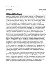 Ben Gilbert Book Response on Maniac Magee
