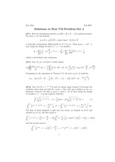 Stat 710 Quadratic Mean Differentiability Homework Solutions