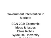 ECN 203 class 08 government intervention