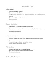 History 202 Course Notes