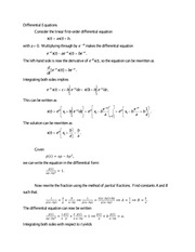 8-Differential Equations handout