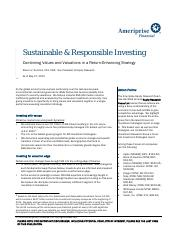 Ameriprise Sustainble and Responsible Investing Brief 2015