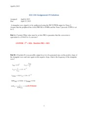 hw 9 solutions