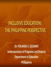 Special Education in the Philippines