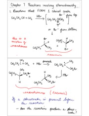 Chapter 7 Reactions involving stereochemistry