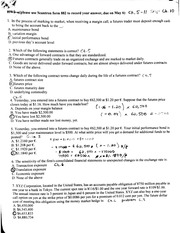 Fin 450 Homework #2 With Answers