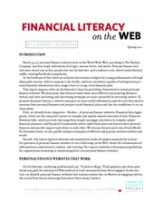 FINANCIAL LITERACY on the web