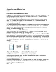 PY106 Chapter 4: Capacitors and batteries