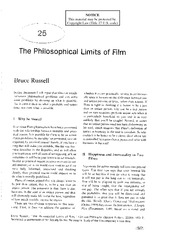 Russell The Philosophical Limits of Film