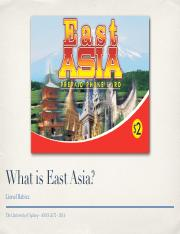 1 What is East Asia bb